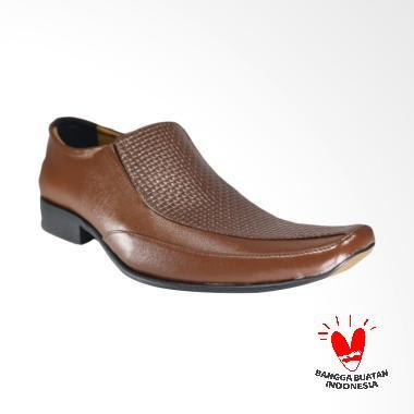 LISMEN Costa Crociere Sepatu Kulit Pria - Brown [LM-7708]
