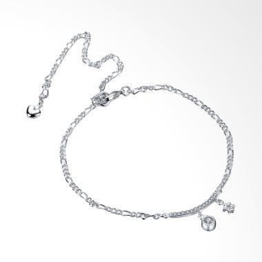 SOXY LKNSPCA015 Simple Anklet Hangi ... rcon Gelang Kaki - Silver