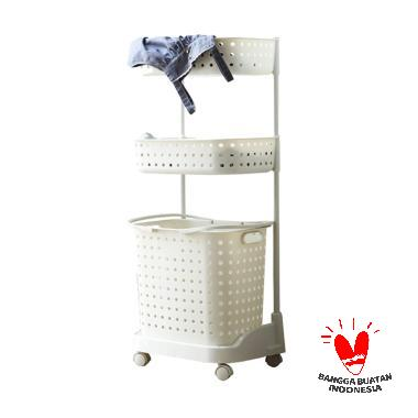 The Olive House 3T Moving Laundry Basket