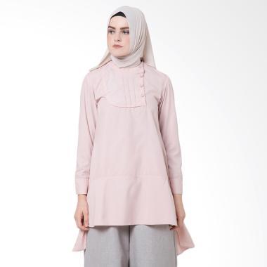 SYAHEERA Halfy Tunik Atasan Muslim Wanita - Baby Pink
