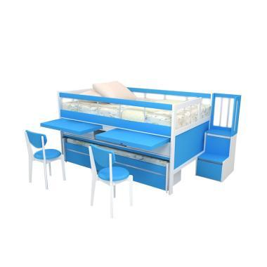 Funkids Elora 01-120 Multifungsi Tangga Laci Tempat Tidur Anak - White Atlantis Blue