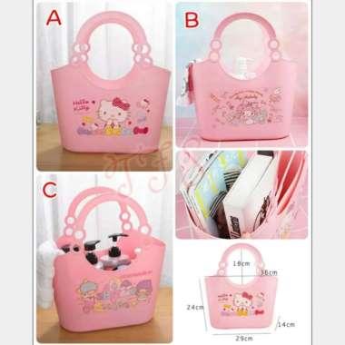harga Keranjang tenteng pasar Hello Kitty My Melody Little Twin Stars Multicolor Blibli.com