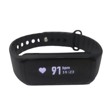 Lenovo G03 Heart Rate Band Smartwatch - Black