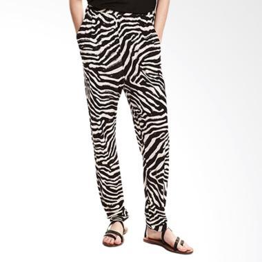 Millenia HMP 02 Zebra Celana Panjang Wanita - Black Off White