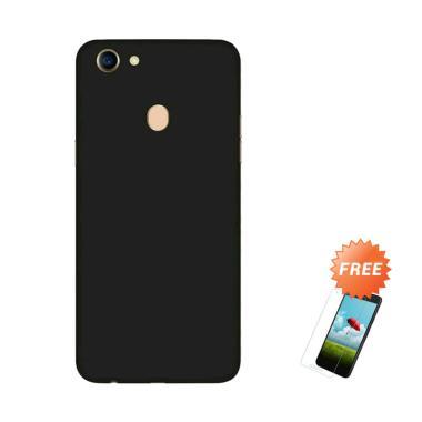 pretty nice 95989 1c400 OEM Slim Black Matte Hardcase Casing for Oppo F5 or Oppo F5 + Free Tempered  Glass