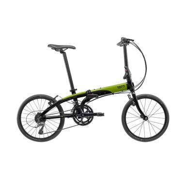 Tern Link D16 Sepeda Lipat - Black Green