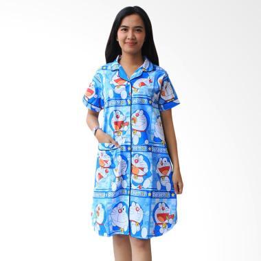 Aily ALY031 Motif Doraemon Daster Wanita - Biru