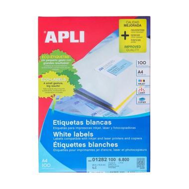 APLI 01282 White Paper Computer Label [48.5 X 16.9 mm/ 6800 sticker]