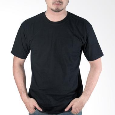Nazoela Clothing Polos Kaos Pria - Black Solid