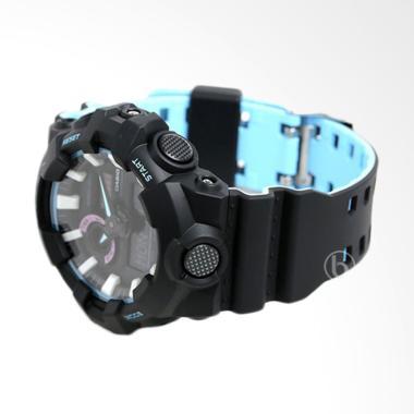 CASIO G-SHOCK Double LED Light Jam  ... Black Blue [GAS-700PC-1A]