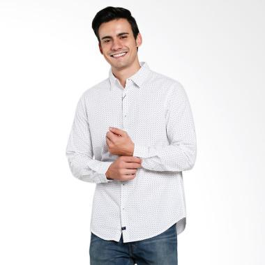 Triple Jeans Slim Fit Kemeja Pria - White [LS 255 WHT]