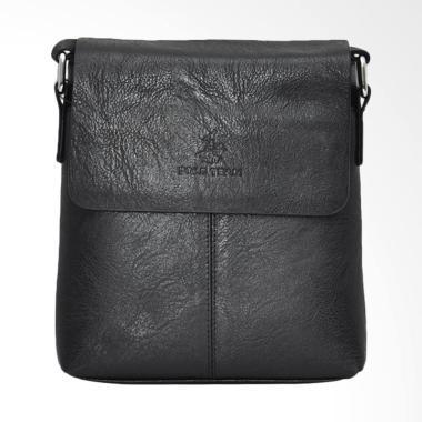 Polo Team PVC Leather Sling Bag Tas Pria - Black [Small/ A165-2]