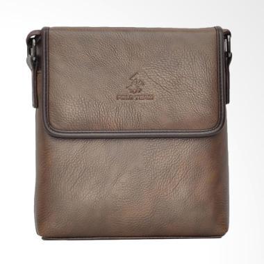 Polo Team Sling Bag Pria - Brown [8604-2/ Size Medium]