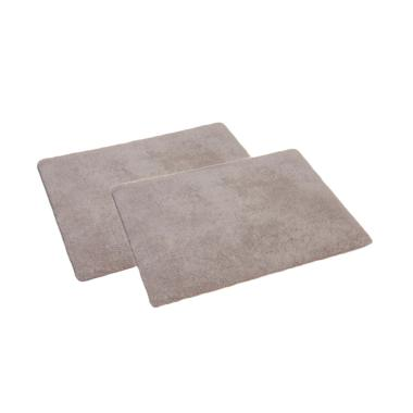 ENJOY101 Non Slip Antibacterial Bath Mat - Grey [Pack of 2]