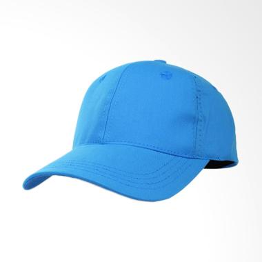Elfs Shop Simple Baseball Twill Polos Topi - Biru Muda