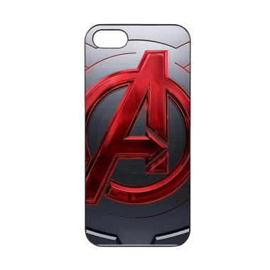 Acc Hp Avengers Logo Red Metal Z5265 Casing for iPhone 5 or iPhone 5s