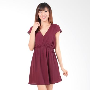 Forever 21 Alviena Mini Dress - Maroon