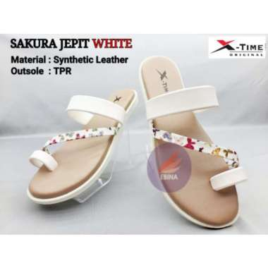 harga Jual Sandal Wanita Original X-Time Sakura Jepit - White 36 Murah Blibli.com
