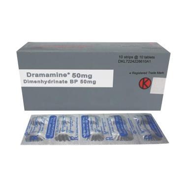 Dramamine Tablet Obat Kesehatan [50 Mg/ 10 Tablet-Strip]
