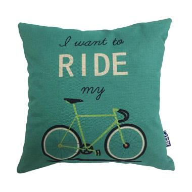 JYSK Bicycle Fake Linen Cushion Cover [40 x 40 cm]
