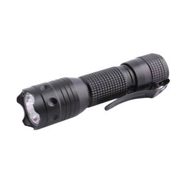 Mine Pocket Portable Waterproof Flashlight Senter LED - Black