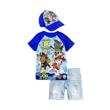 Junior Wardrobe Paw Patrol Set Jeans Plus Hat - Blue [3in1]
