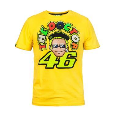 VR46 The Doctor Comic T-Shirt Pria - Yellow [Original]