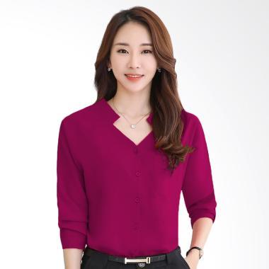 Okechuku Keinara Fashion Korea Kemeja Wanita - Fuchsia