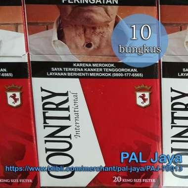 Country International 20 [1 slop / 10 bungkus @ 20 batang] Rokok / King Size Filter / Merah