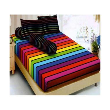 Kintakun Dluxe Motif Rainbow Set Sprei [180 x 200 cm]