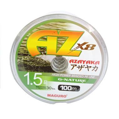 Maguro Azayaka X8 G-Nature PE Senar ... / Size 1.5/ Ukuran 30LBS]