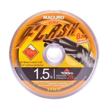 Maguro Flash Gold PE Senar Pancing [100 Meter / Size 1.5 / 28 lbs]