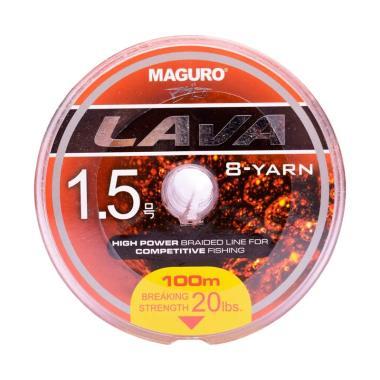 Maguro Lava PE Senar Senar Pancing [100M/ Size 1.5/ Ukuran 20LBS]