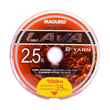 Maguro Lava PE Senar Pancing [100M/ Size 2.5/ Ukuran 35LBS]