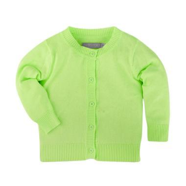 Hello Mici Baju Bayi Knitwear Baby Basic Cardigan - Green