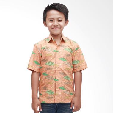 Aamir Kinsler BA26 Kemeja Batik Anak Lengan Pendek - Salem