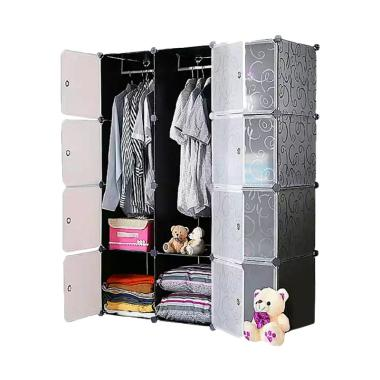 Tupper Cabinet Elegant Black Korean ... ian [12 Pintu / Original]