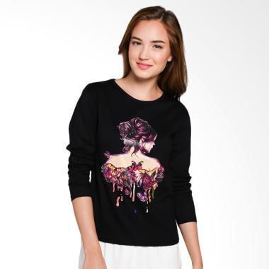 JCLOTHES Kaos Lengan Panjang Wanita Bodygirl - Hitam