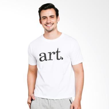 JCLOTHES Kaos Pria Kaos Distro Tumblr Tee ART - Putih