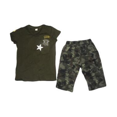 VERINA BABY Atasan and Pants Army Style Setelan Anak - Hijau
