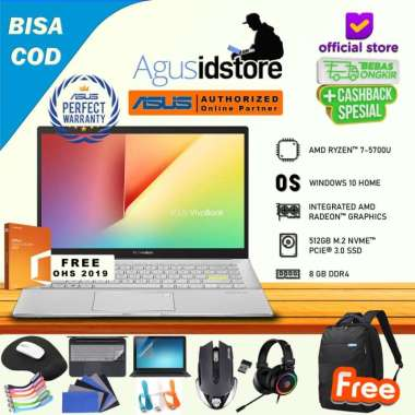 harga Asus Vivobook S14 M433UA Ryzen 7-5700U 8GB 512GB SSD WIN10 + OHS 14