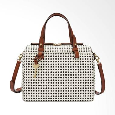 Fossil ZB 7314125 Rachel Satchel Bag - White Black
