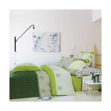 Beglance Cotton Manuel Bed Sheet Set Sprei - Hijau