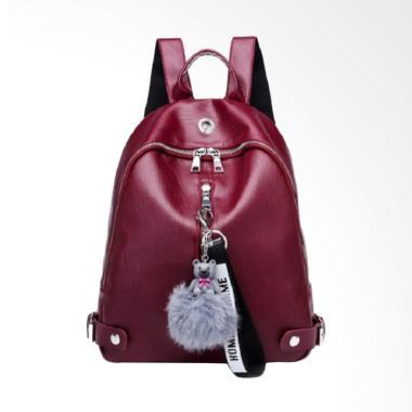 Fashion 0930020516 Fashion Import Tas Ransel Wanita - Red Maroon