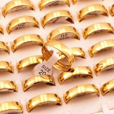 harga Jual Cincin Gold Emas Anti Karat Size 16 17 18 19 - Aksesoris Wanita - Kuning 18 Diskon Blibli.com