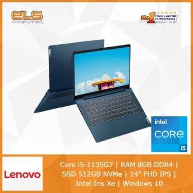 harga Lenovo IdeaPad Slim 5-14ITL05 JTID - Blue [i5 1135G7-8GB-512GB-W10-OHS] Blibli.com