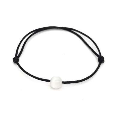 harga Cat Eye Stone Natural Stone Bead Bracelet Red String Braiding Couple Bracelets B-White2 Blibli.com