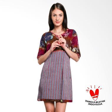 Lombang Batik Pita Bludru Dress Batik