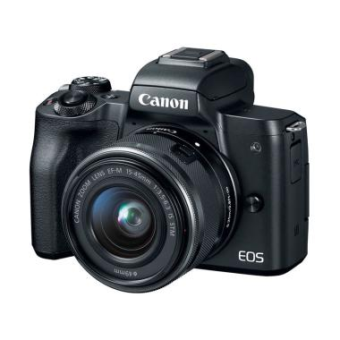 Canon EOS M50 Kit 15-45mm Kamera Mirrorless - Black
