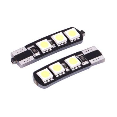 JMS Senja T10 Canbus 6 SMD 5050 Lampu LED Mobil atau Motor - Yellow